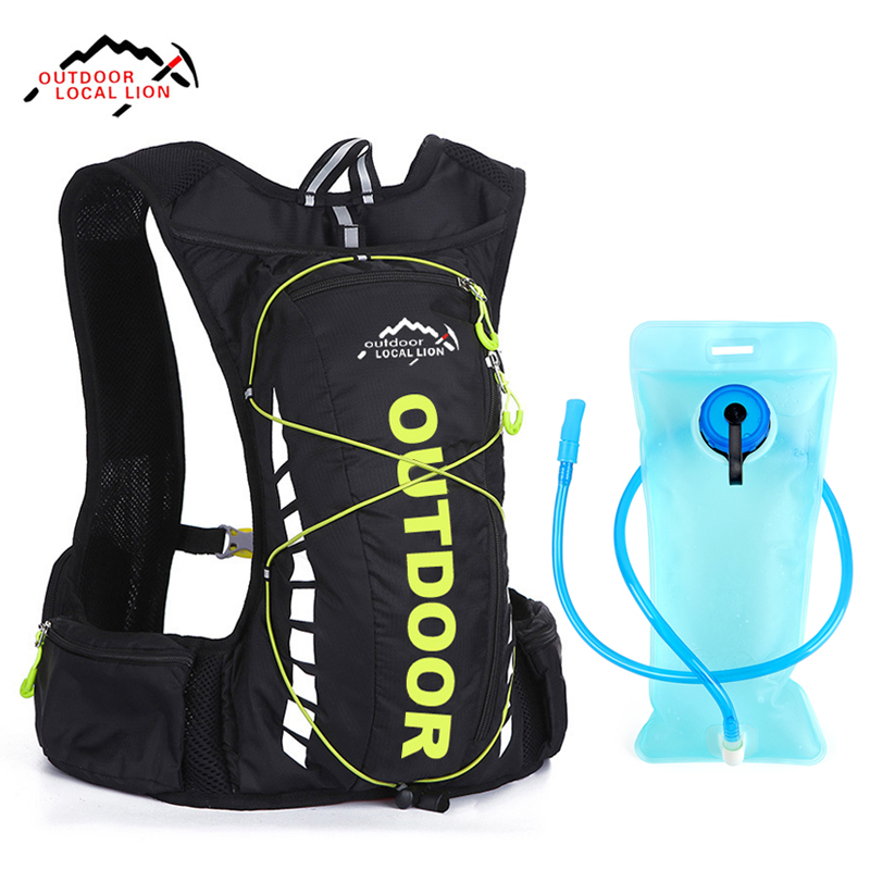 LOCAL LION Waterproof 10L Climbing Backpack Camping Travel Hiking Outdoor Bags 2L Hydration Water Bag Sport Rucksack 4 Colors LOCAL LION Waterproof 10L Climbing Backpack Camping Travel Hiking Outdoor Bags 2L Hydration Water Bag Sport Rucksack 4 Colors