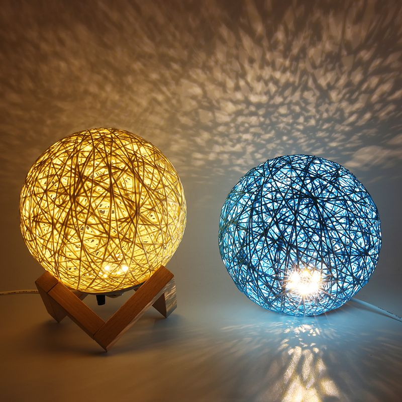 Modern LED Moon Night Light Creative Projection Lamp USB Charging With Dimming Switch