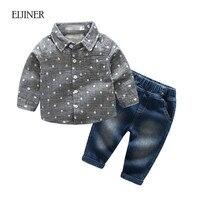 2018 Spring Autumn Baby Boy Clothes Set Polka Dot Baby Boy Clothing Cotton Kids Girls Clothing