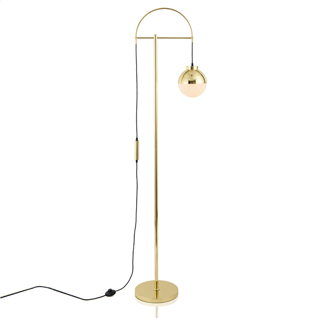 Nordic Art LED Floor Lamp Eye Protective Gold Metal Body Modern Standing  Floor Light For