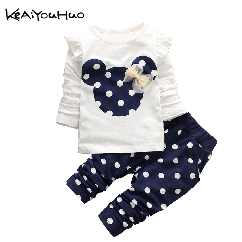KEAIYOUHUO Toddler girl clothing Summer baby Girls Clothes Set T-shirt+Pants Kids Clothes Girls Sport Suit Children Clothing