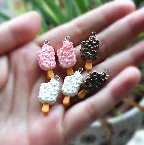 resin charms icecream necklace pendant  fit Necklace Jewelry Findings