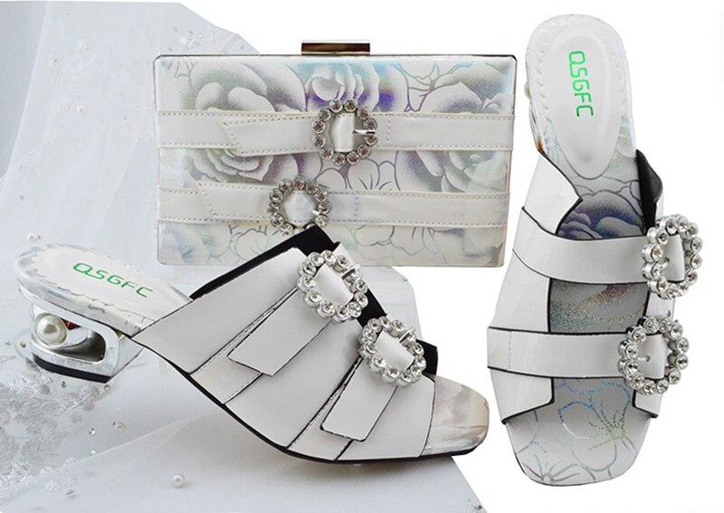 Nouveau Sac Parti Chaussures 3 Italien Mode À Femmes Les Assortir Blanc Design Sb8199 De Ensemble Et p8AwRnxq
