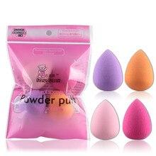 4 Color Mini Forma De Gota Conjunto Puff Fundación BB Cream Base Maquillaje Cosmético Blender Flawless Corrector Colorete Mezclado Kit de Belleza
