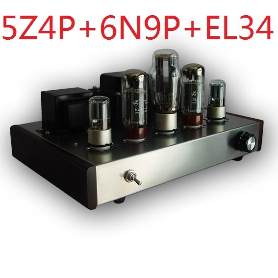 2017 Nobsound promozionale single end Tube Amplifier Montato Versione 5Z4P + 6N9P + EL34-B suite tubo elettronico amplificatore 13 W + 13 W
