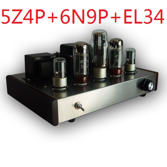 2017 Nobsound promozionale single end Tube Amplifier Montato Versione 5Z4P + 6N9P + EL34-B suite tubo elettronico amplificatore 13 W + 13 W