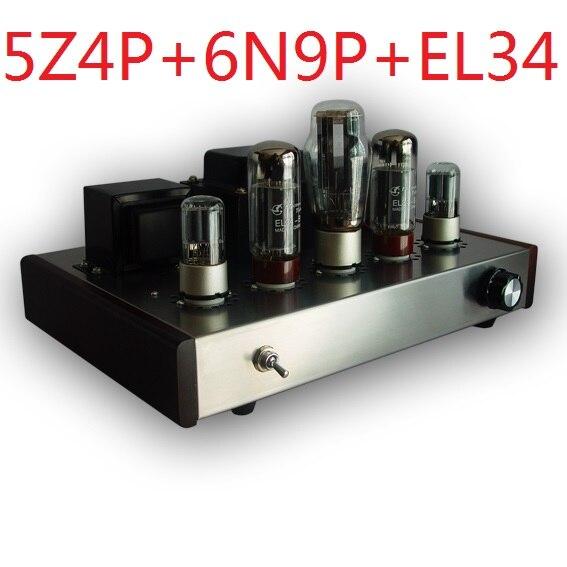 2017 Nobsound single promotionnel fin Tube Amplificateur Monté Version 5Z4P + 6N9P + EL34-B suite tube électronique amplificateur 13 W + 13 W