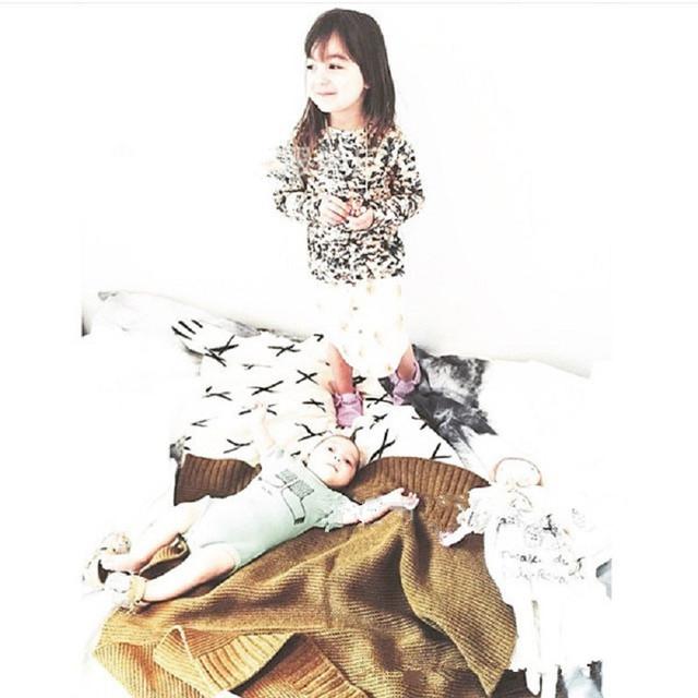 100*85 cm Multi-Função Cobertor De Lã Tricotada Tapetes de Jogo Do Bebê Tapete Crianças Tapete Crianças Decoração do Quarto Da Cama Estilo nórdico