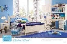 3312 детская мебель для спальни, наборы Детская кровать шкаф стол стул тумбочка