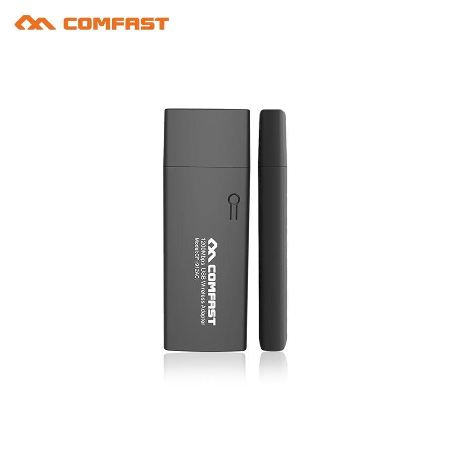 10pcs 1200Mbps Mini USB Wifi Adapter Wifi Network Card Dual Band 2.4G/5.8G Wireless AC Wifi Adapter Windows XP/Vista/7/8/10 Mac