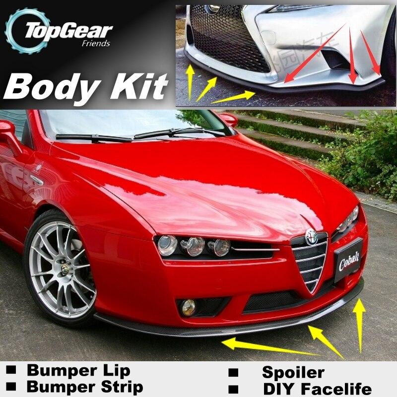 Pare-chocs Lèvre Déflecteur Lèvres Pour Alfa Romeo 159 AR 2005 ~ 2015 Avant Spoiler Jupe Pour TOPGEAR Amis Voiture Tuning/Corps Kit/bande