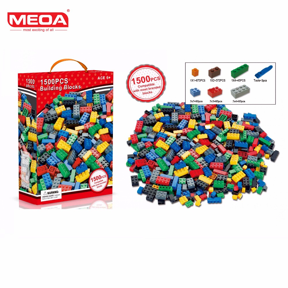 1500pcs MOC Building Blocks Toys My Own Creation Brick for Kids Educational Toy Building Blocks Compatible With Standard Blocks on my own
