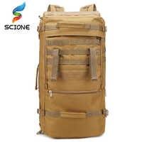 60L bolso táctico militar caza Camping portátil Molle mochila Oxford Nylon impermeable mochila militar bolsa de deporte para exteriores