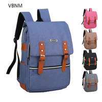 VBNM 17 Inch Canvas Computer Laptop Notebook Backpack Bags Case School Backpack for Men Women Student Travel Portable Bags