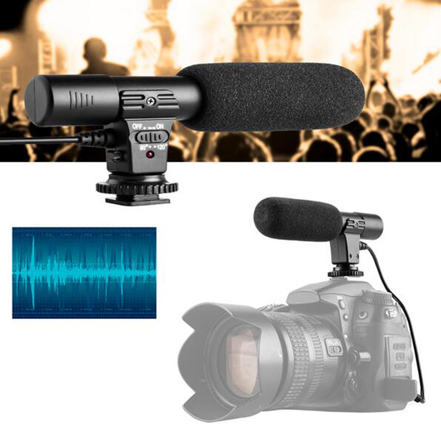 2016 New Fashion Durable Video Professional Studio Stereo Shotgun Recording Microphone for Canon Nikon Pentax DSLR Camera