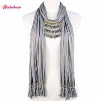 Aoloshow colgante collar mujeres bufanda de la joyería colgante de plástico cristal piedras beads strand encantos de la joyería bufandas de invierno nl-1893
