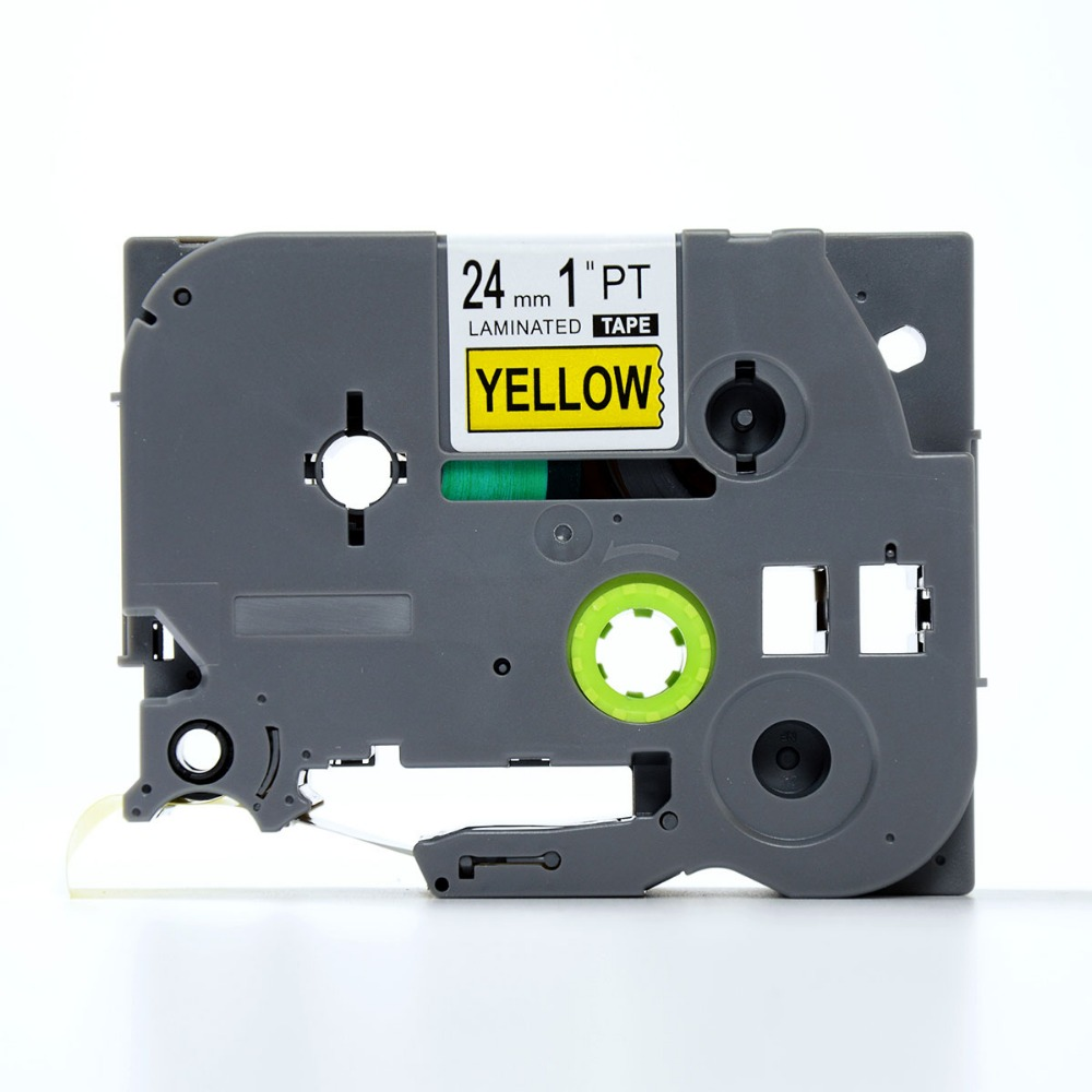 24mm 0.94 Inch Laminated Yellow Compatible with Brother P-touch TZ-651 TZ Label