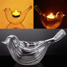 Crystal Bird Shape Glass Candle Holder