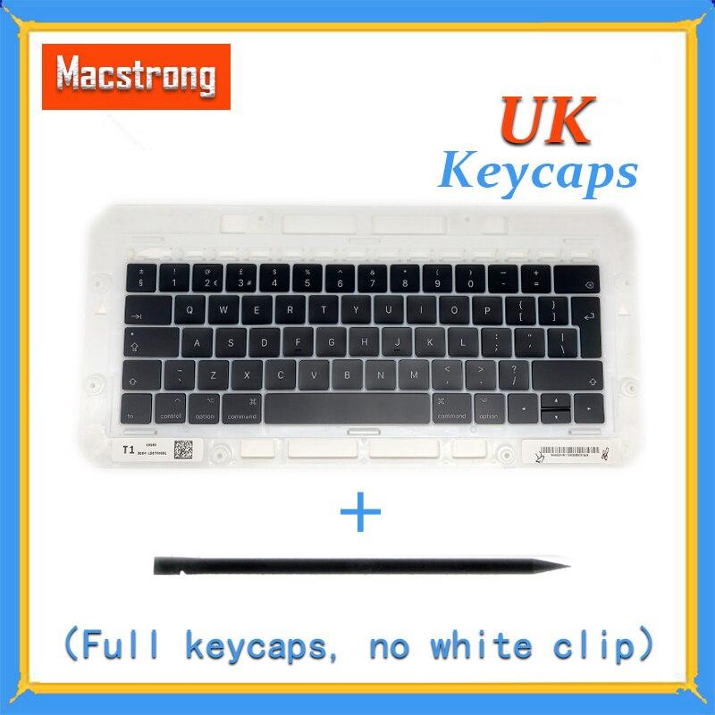 New Original A1706 A1707 A1708 UK Keycaps For font b Macbook b font Pro Air Retina