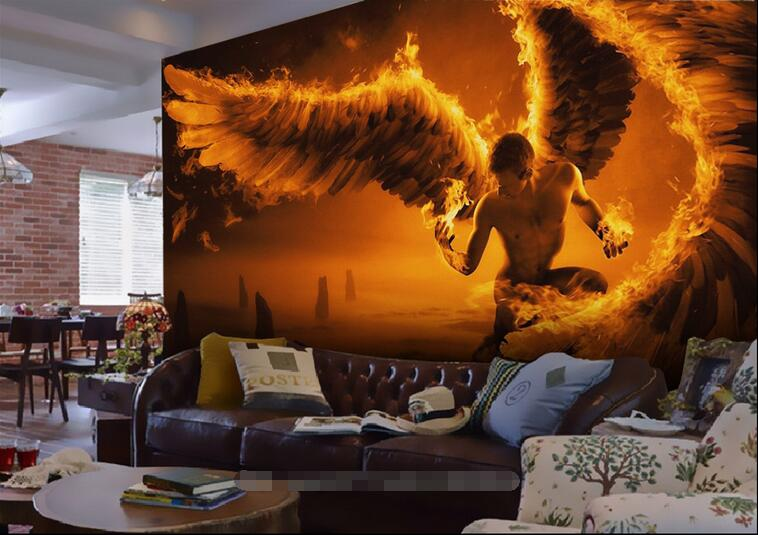 3d room wallpaper custom mural non-woven picture wall sticker 3 d Flame angel wings  painting photo 3d wall murals wallpaper custom photo 3d wallpaper non woven mural wall sticker british architecture painting picture 3d wall room murals wallpaper