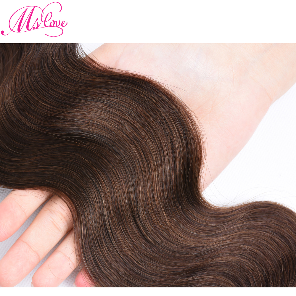 Ms Love #4 Brown Body Wave Hair Bundles 1 piece Brazilian Human Hair Extensions 100 Gram Free Shipping