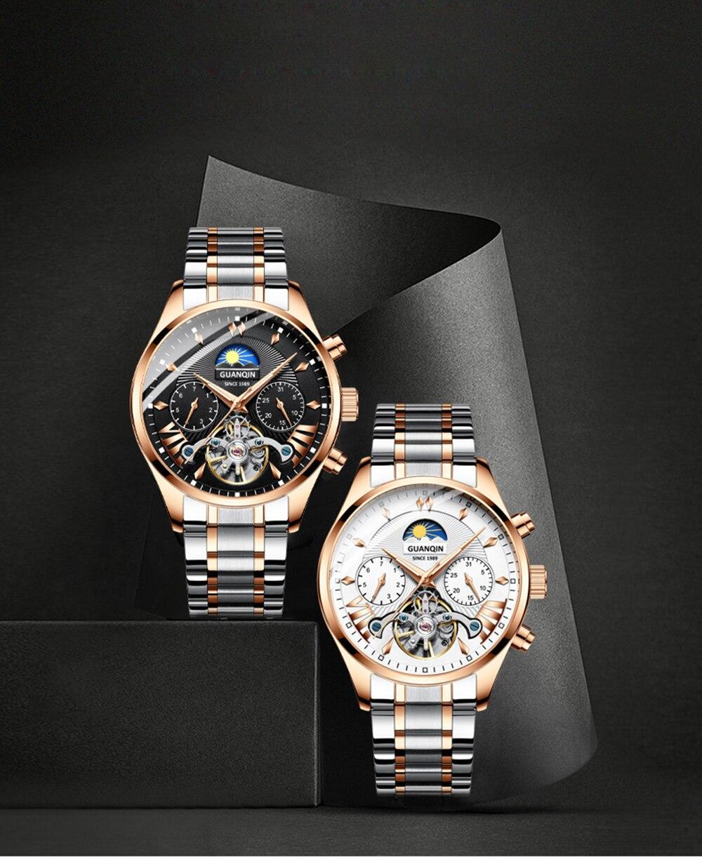 HTB1UpEaRjDpK1RjSZFrq6y78VXar GUANQIN 2019 clock men's/mens watches top brand luxury automatic/mechanical/luxury watch men gold tourbillon mens reloj hombre