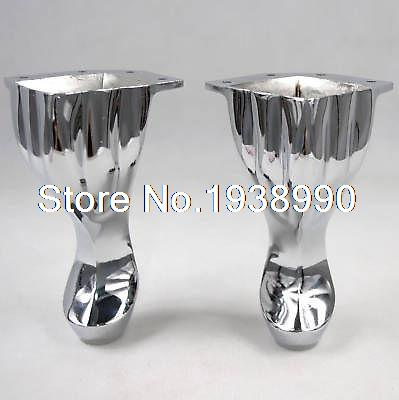 4 Set Height 140mm Metal Furniture Cabinet Tea Table Sofa Leg Feet set 2pcs 125mm metal furniture cabinet legs tea table bed chair sofa leg feet