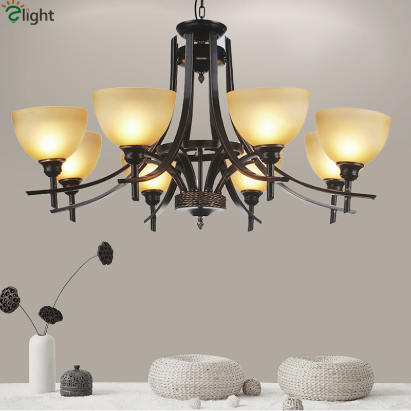2016 Certified Nordic Lustre Led Chandelier Lighting luminaria Europe Simple Wrought Iron Frosted Glass Avize Chandelier