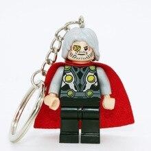 Odin Mrvel Super Hero Keyrings Minifigures Keychain Custom Key Ring Keychains DIY Handmade Key Chain Building Blocks Toys