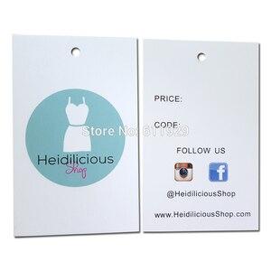 Image 3 - משלוח חינם 500pcs הרבה מותאם אישית נייר לתלות תג/בגדים לתלות תג/בגד תיק מודפס תג מותג/שיער לתלות תג/תווית טיפול