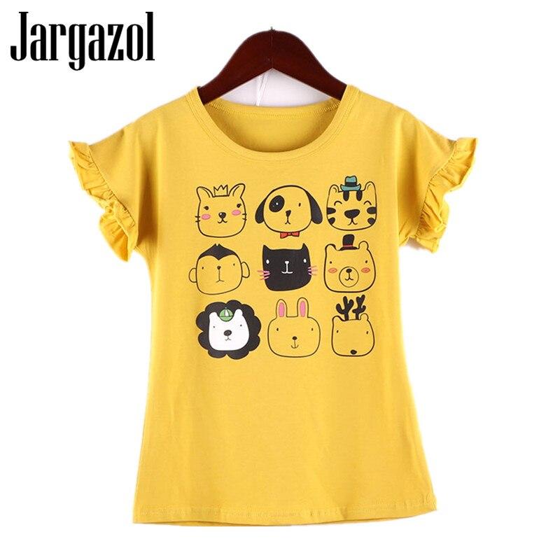 Jargazol T Shirt Baby Girl Clothes Cartoon Printed Embroidery Short Sleeve T-shirt Cute Kids Shirts Casual Girls Summer Top