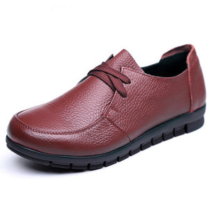 Image 4 - Designer Women Flats Genuine Leather Shoes Female Slip on Loafers Anti Slip Moccasins Casual Zapatillas Mujer 2020 Plus Size