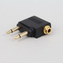 3.5mm aircraft aviation audio adapter male to female audio adapter headset conversion plug high quality Free shipping dual 3 5mm male to female headphone plug aviation airplane audio adapter head gold plated female converter aircraft adapter