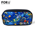 FORUDESIGNS 2017 Women Cosmetic Bag Make Up Bag Boys Pencil Case 3D Underwater Animal Children School Supplies Pen Pouch Kids