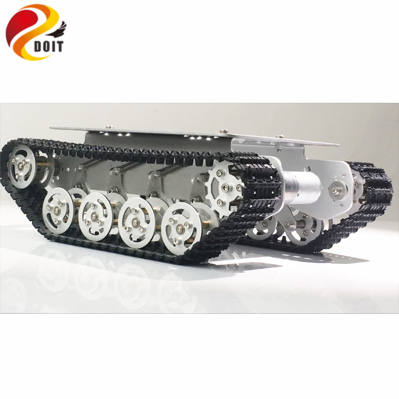 DOIT TS100 Silver Shock Absorber Tank Chassis with Suspension Wheel