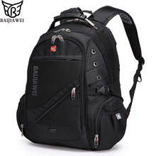 BAIJIAWEI 15″ Computer Notebook Laptop Backpacks Mochilas Bagpack Men Travel Bags Packsack Brand Design School Backpack
