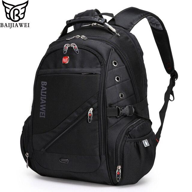 "BAIJIAWEI 15"" Computer Notebook Laptop Backpacks Mochilas Bagpack Men Travel Bags Packsack Brand Design School Backpack"