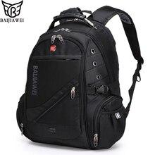 "Baijiawei 15 ""notebook computer laptop mochilas mochilas packsack mochila hombres bolsas de viaje marca de diseño mochila escolar"