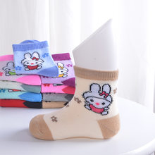 Hot sales The new spring models for baby chirldren 1-3 years old cotton lovely breathable warm socks cute cartoon baby socks(China)