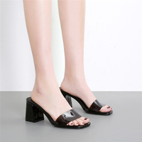 2019 Women High Heels Pumps Lady Pointed Toe Sexy Wedding Casual Tacons Transparent Heels Pumps Female Scarpins Platform Shoes