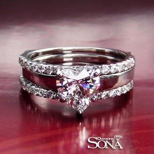 Aliexpresscom Buy fine silver 1 Carat SONA Simulated Diamond