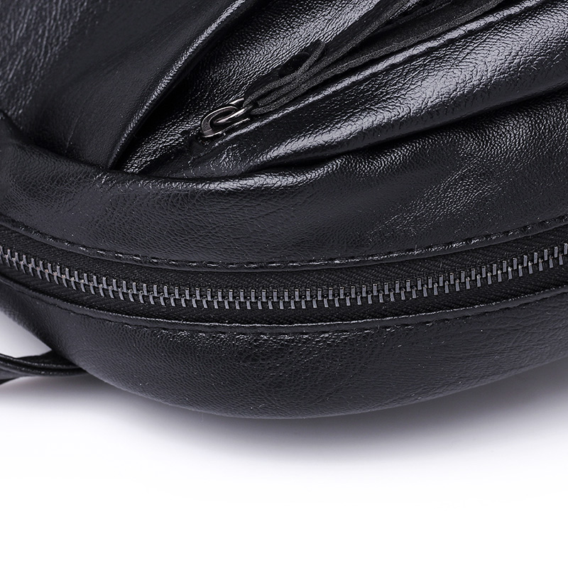 PU Leather Women's Backpacks Large Capacity Bag For Teenager Girls Fashion Solid Backpack Female Black Rucksacks Female backpack