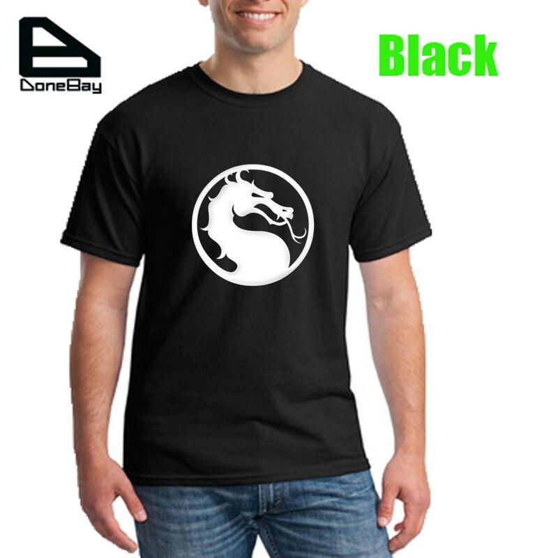 Mens Tee Shirt New Mortal Kombat Symbol Summer Tshirt Homme 2016