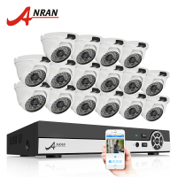 ANRAN 16CH 1080N HDMI DVR Outdoor Surveillance System Digital Video Recorder AHD 720P 1800TVL IR Home