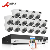 ANRAN 16CH 1080N HDMI DVR Outdoor Surveillance System Digital Video Recorder AHD 720P 1800TVL IR Home