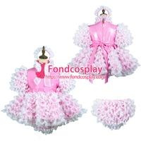 Sissy Maid Pvc Dress Lockable Uniform Cosplay Costume Tailor Made G2432