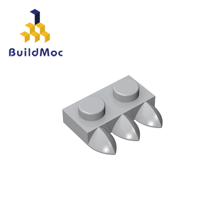BuildMOC Compatible Assembles Particles 15208 2x1 For Building Blocks Parts DIY LOGO Educational Tech Parts Toys