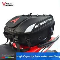 MOTOCENTRIC Motorcycle Back seat bags Top Case Motorbike Tail Bag Moto Racing Helmet Backpack