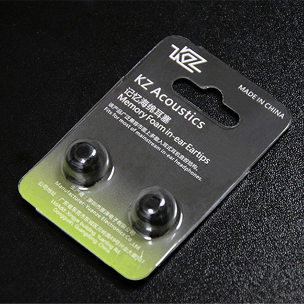 KZ Memory Foam Ear pads Earphone caps 1 Pair(2pcs) Medium 5mm Noise Isolating Comfortble Silicone Ear Tips for KZ Headphones