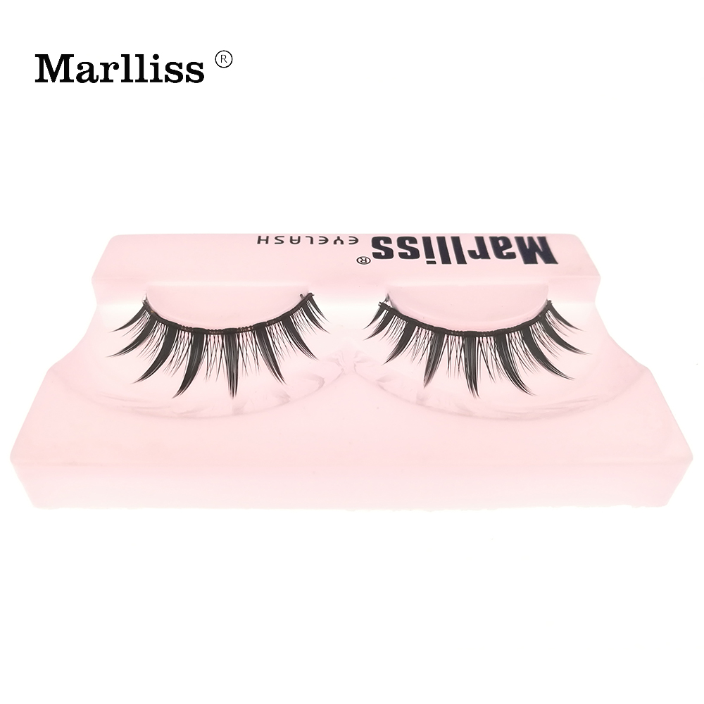 1 Pairs #612 Marlliss Crisscross false eyelash Korea Fiber Demi wispies eyelashes Synthe ...